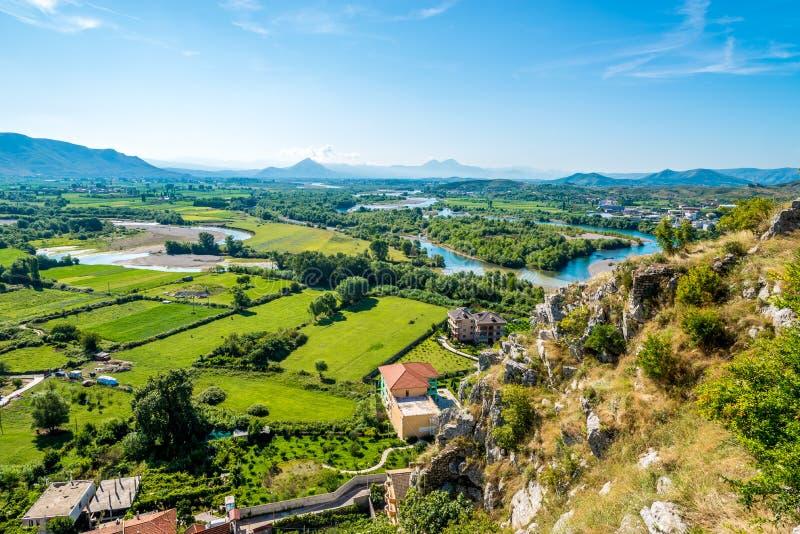 Vista alla natura albanese fotografie stock