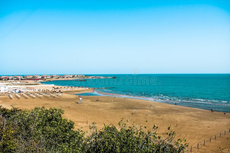 Vista alla riva di mare fotografie stock libere da diritti