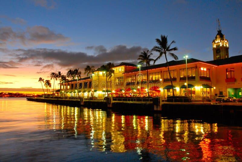 Vista Aloha da torre, Havaí imagens de stock royalty free