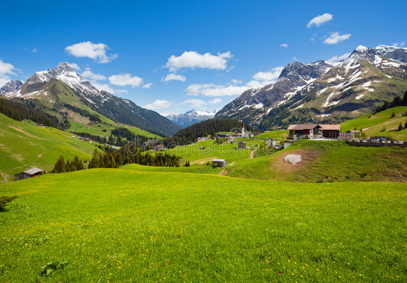 Vista alpina (Vorarlberg, Austria) fotografie stock libere da diritti