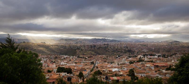 Vista alta da cidade do sucre, Bolívia foto de stock royalty free