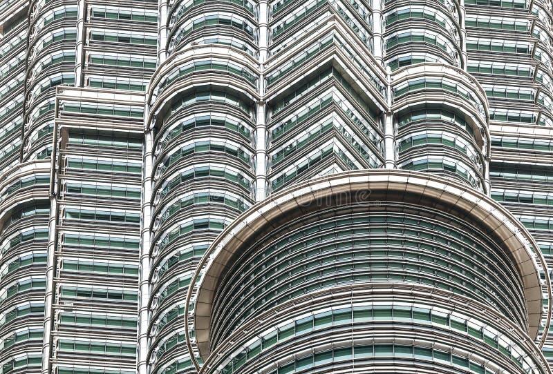 Vista alta vicina di alta qualità delle torri gemelle di Petronas immagini stock