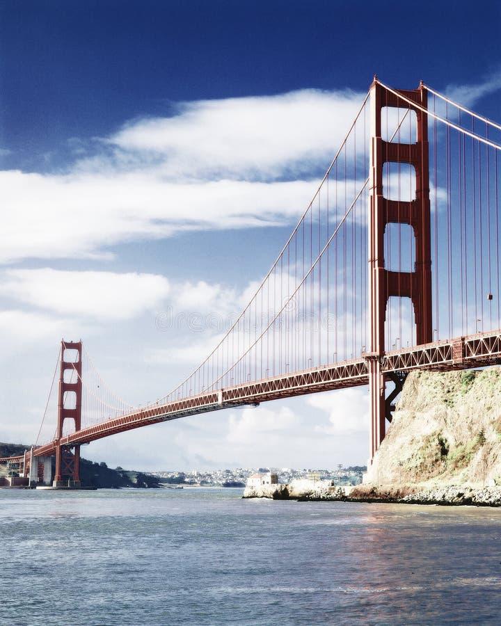Vista alterada Digital de golden gate bridge Marin Gateway Park, San Francisco, Califórnia imagens de stock royalty free