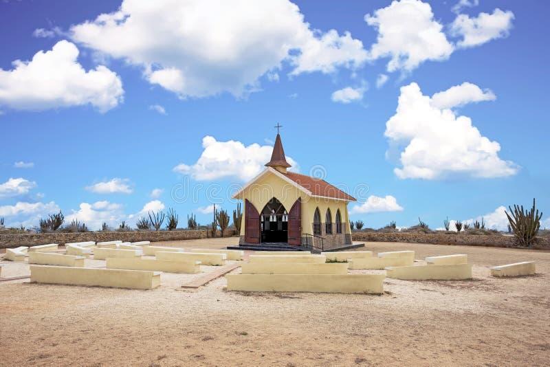 Vista Alto παρεκκλησι στη Αρούμπα στις Καραϊβικές Θάλασσες στοκ φωτογραφία