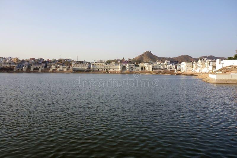 Vista amplia del lago 3 Pushkar fotografía de archivo