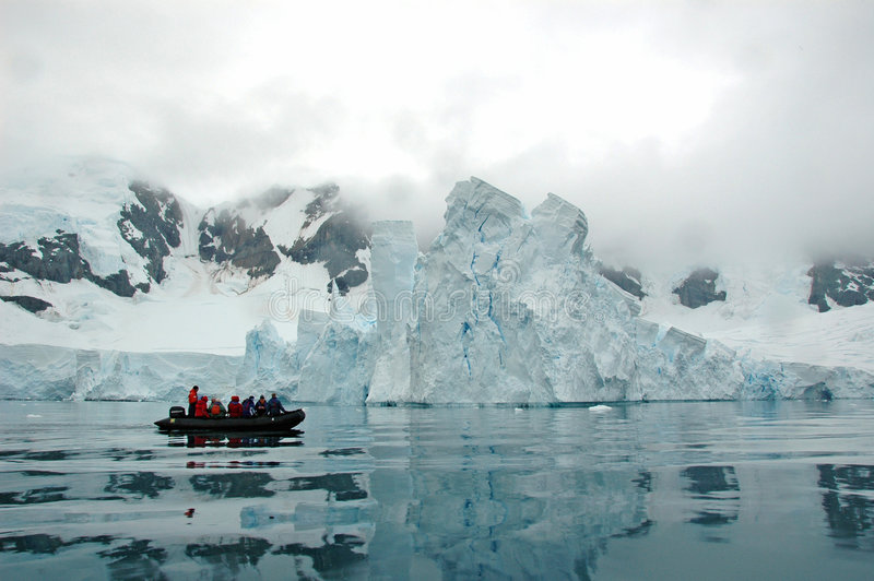 Vista antartica fotografie stock libere da diritti