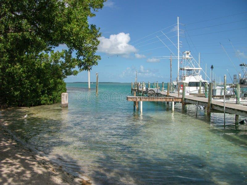 vista ao cais em Miami Beach fotos de stock royalty free