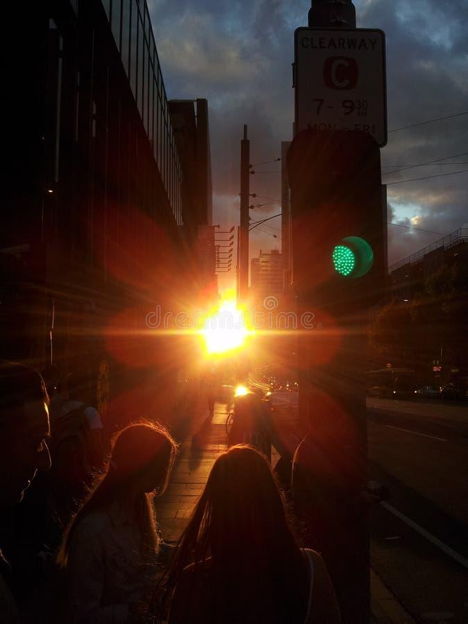 Vista ao por do sol imagens de stock