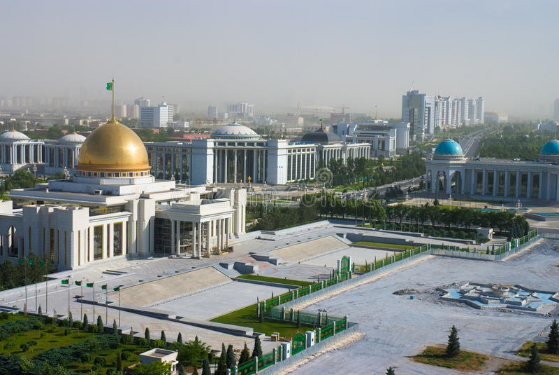 Vista a Ashgabat Turkmenistan fotografia stock libera da diritti