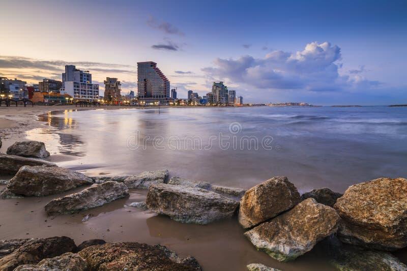 Vista asombrosa de Tel Aviv fotografía de archivo libre de regalías