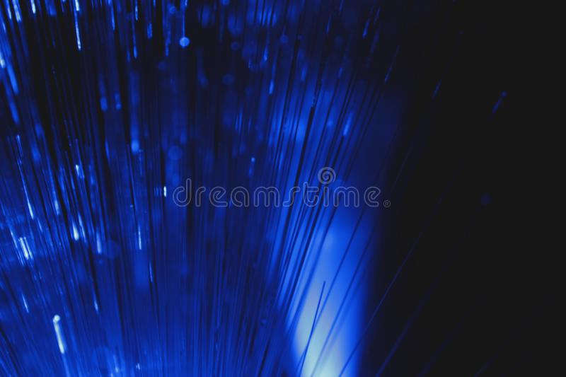 Vista astratta delle fibre ottiche multicolori come fondo fotografia stock