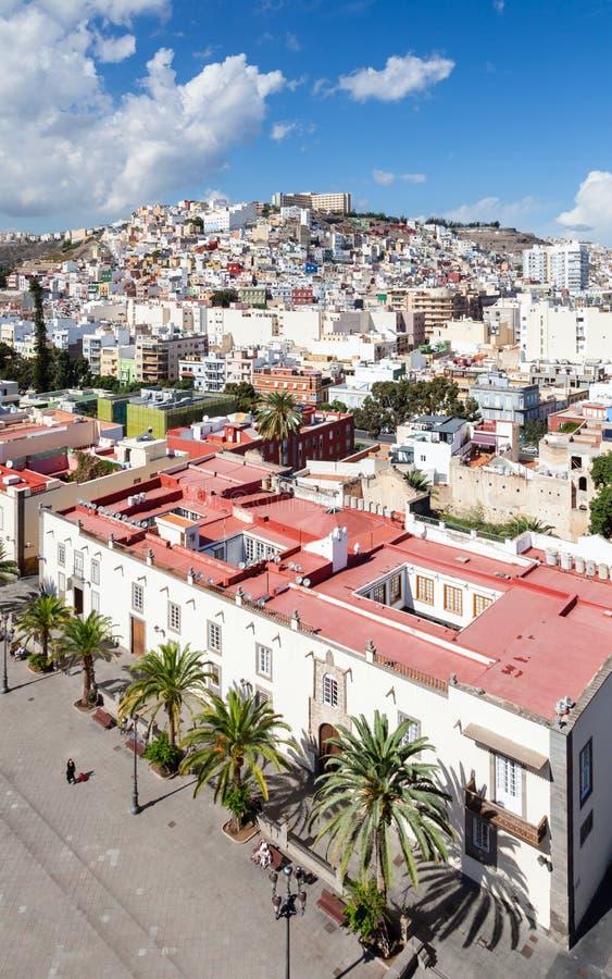 A vista através do Las Palmas para o ` o ` pintado do montanhês foto de stock