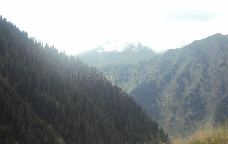 Vista attraente della valle di Naran, Pakistan fotografie stock libere da diritti