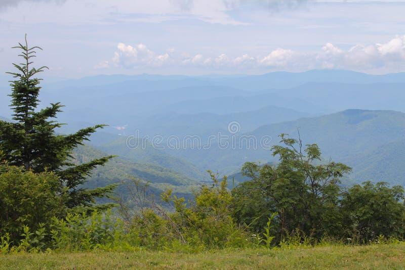 Vista attraverso gli alberi di Great Smoky Mountains immagini stock