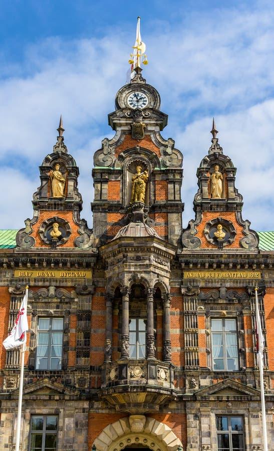 Vista ayuntamiento Malmö fotografía de archivo