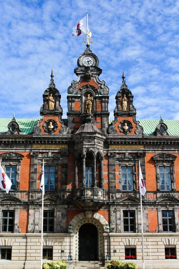 Vista ayuntamiento Malmö en Suecia foto de archivo libre de regalías