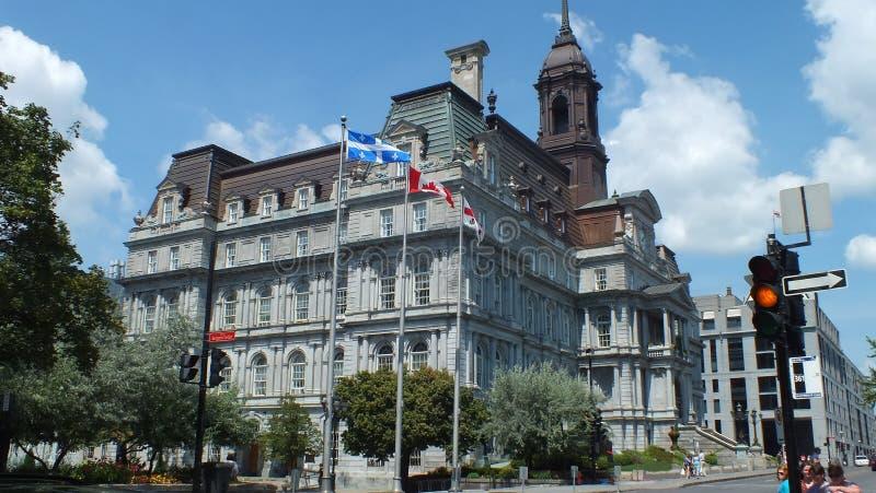 Vista ayuntamiento Montreal foto de archivo