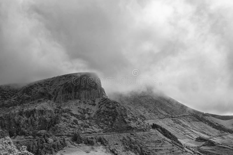 Vista in bianco e nero del DOS Bordoes di Rocha fotografia stock