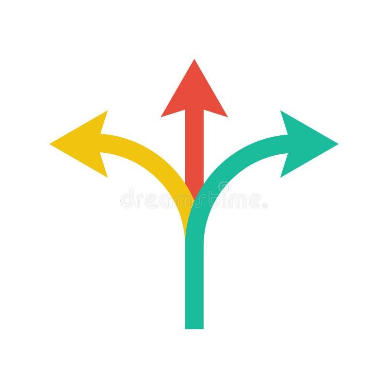 vista blu della tinta del segnale stradale di angolo largamente indicare della freccia illustrazione vettoriale