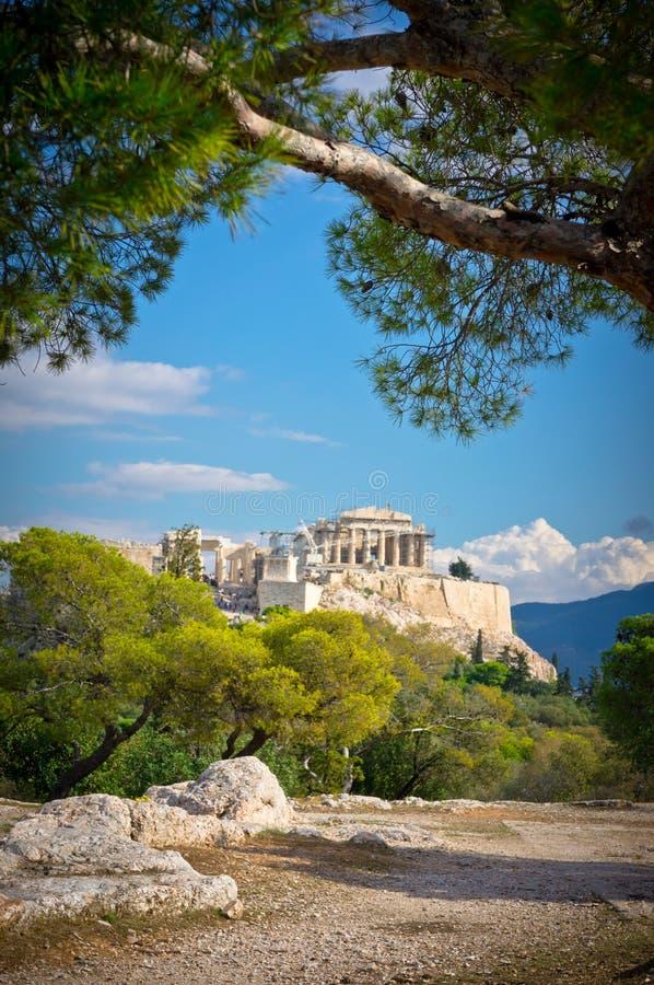 Vista bonita da acrópole antiga imagem de stock royalty free