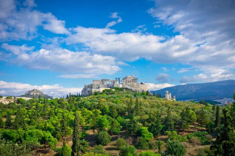 Vista bonita da acrópole antiga fotografia de stock royalty free