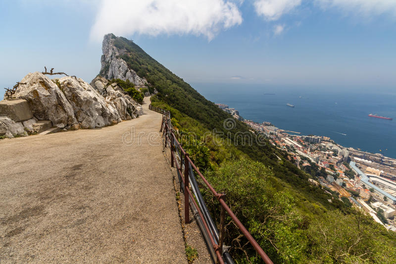 Vista bonita da cidade de Gibraltar foto de stock royalty free