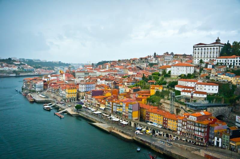 Vista bonita da cidade velha de Porto fotos de stock