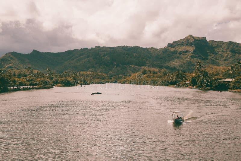 Vista bonita da costa espetacular do Na Pali fotografia de stock