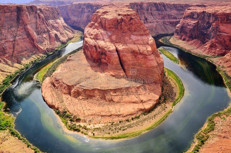 Vista bonita da página em ferradura da curvatura, o Arizona fotografia de stock