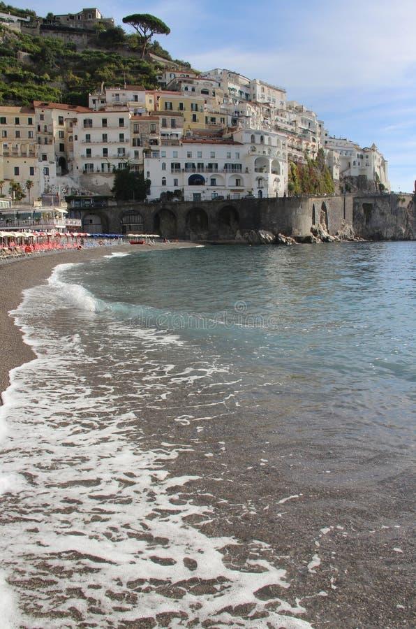 Vista bonita de Amalfi, Itália imagem de stock royalty free