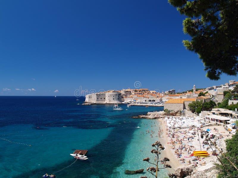 Vista bonita de Dubrovnik foto de stock royalty free