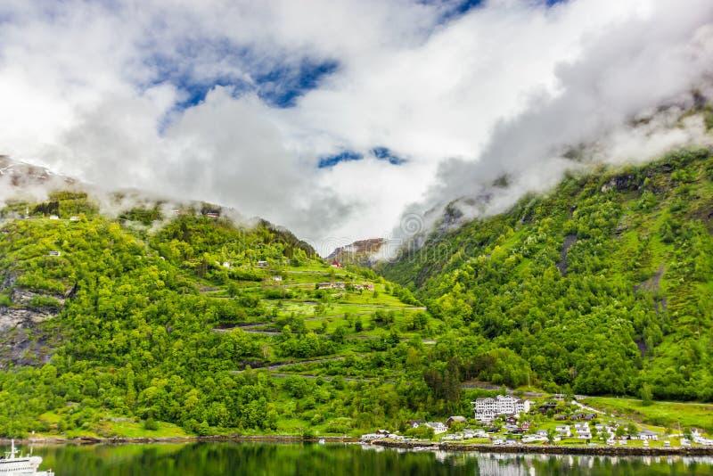 Vista bonita de Geirangerfjord, Noruega imagens de stock