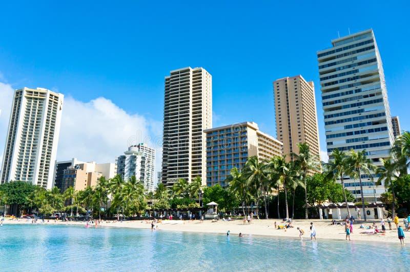 Vista bonita de Honolulu, Havaí foto de stock