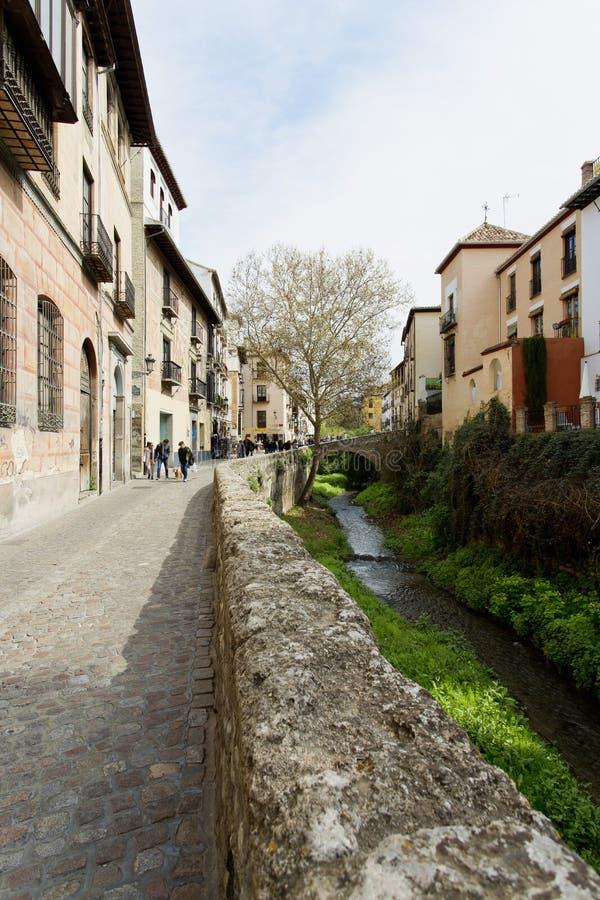 Vista bonita do Albaicin em Granada, a Andaluzia fotos de stock