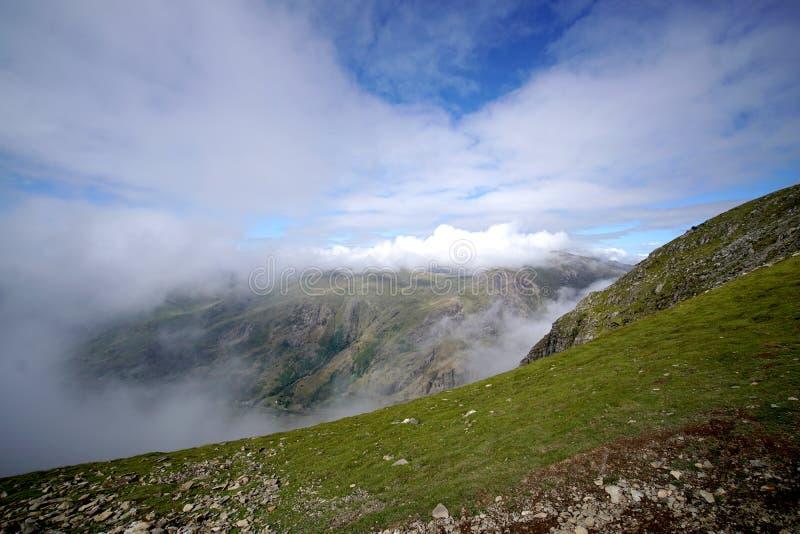 Vista bonita do parque nacional de Snowdonia, Gales, Reino Unido em julho de 2018 foto de stock royalty free