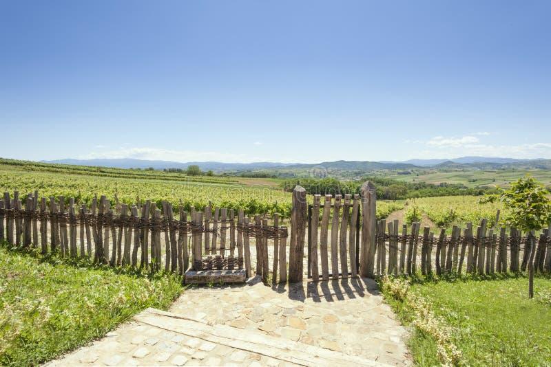 Vista bonita do patamar de uma casa rural imagem de stock royalty free