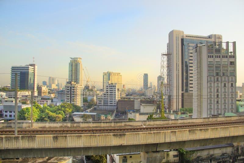 Vista bonita dos arranha-céus de Banguecoque, Tailândia fotos de stock royalty free