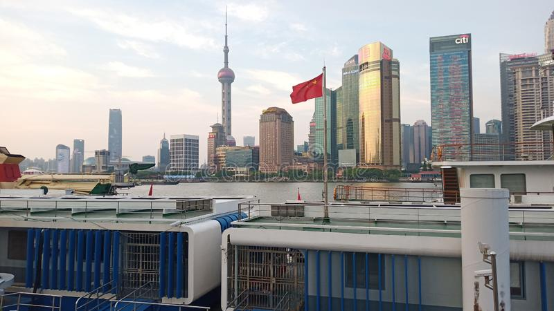 Vista bonita em Shanghai fotografia de stock
