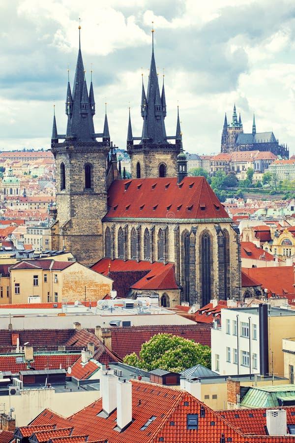 Vista bonita a Praga fotografia de stock