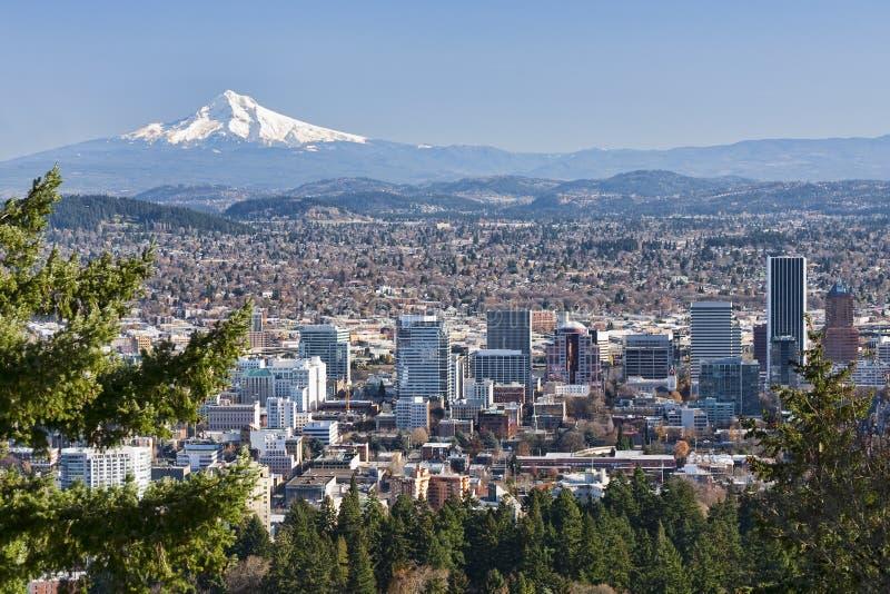 Vista bonito de Portland, Oregon foto de stock