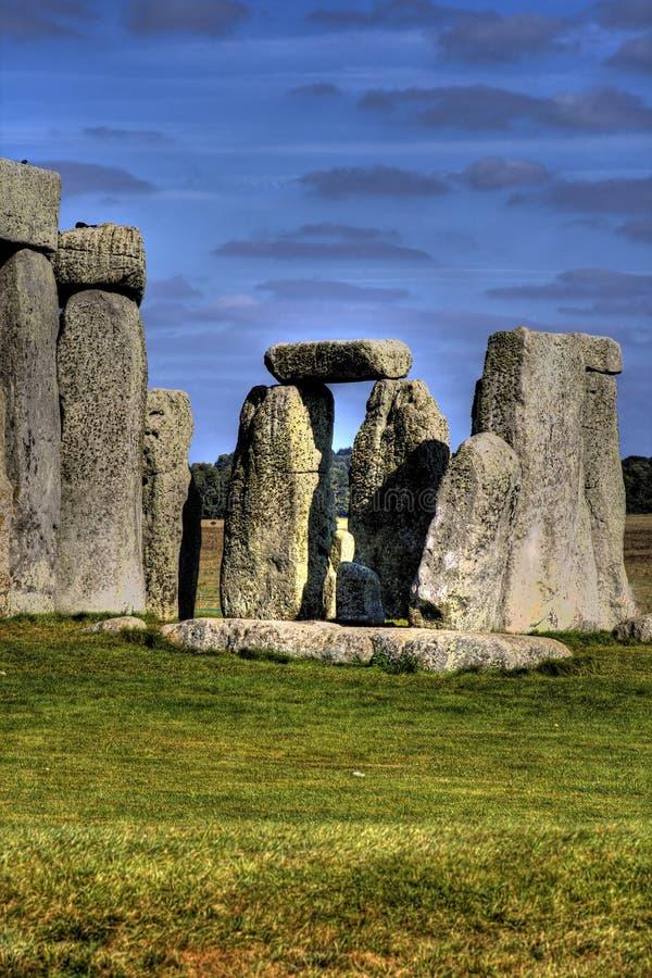 Vista cénico de Stonehenge imagens de stock