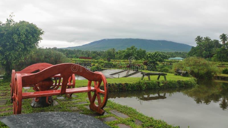 Vista cênico da exploração agrícola das águas em Filipinas foto de stock royalty free