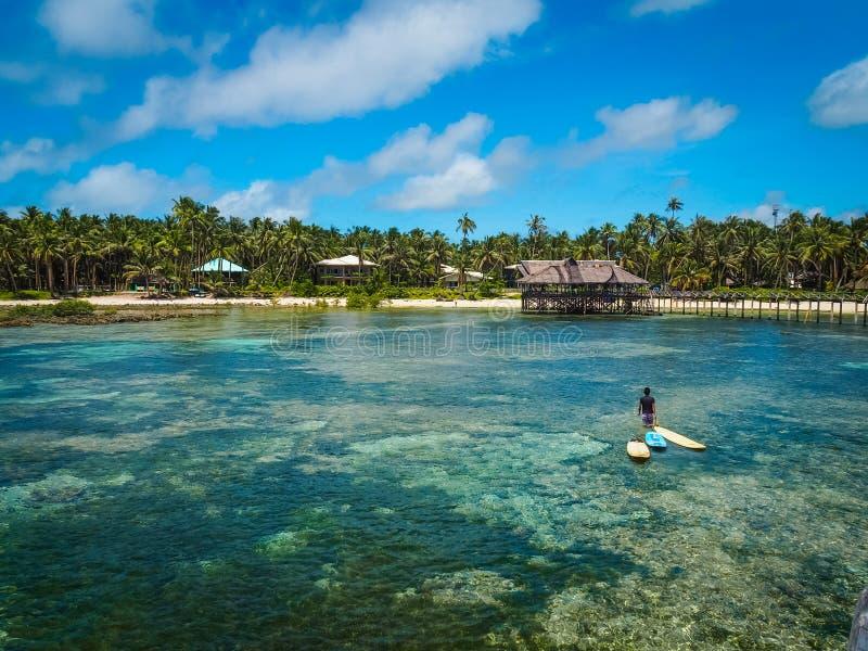 Vista cênico da ilha de Siargao fotos de stock royalty free