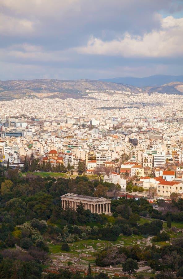 Vista cênico de Atenas, Grécia imagem de stock