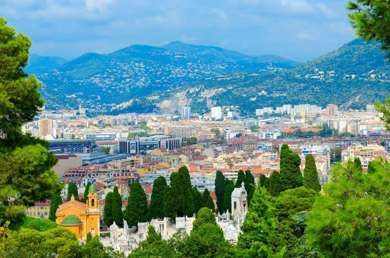 Vista cênico de cima de agradável, França foto de stock royalty free