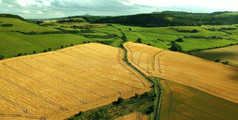 Vista cênico de montanhas de Quiraing na ilha de Skye, montanhas escocesas, Reino Unido fotografia de stock