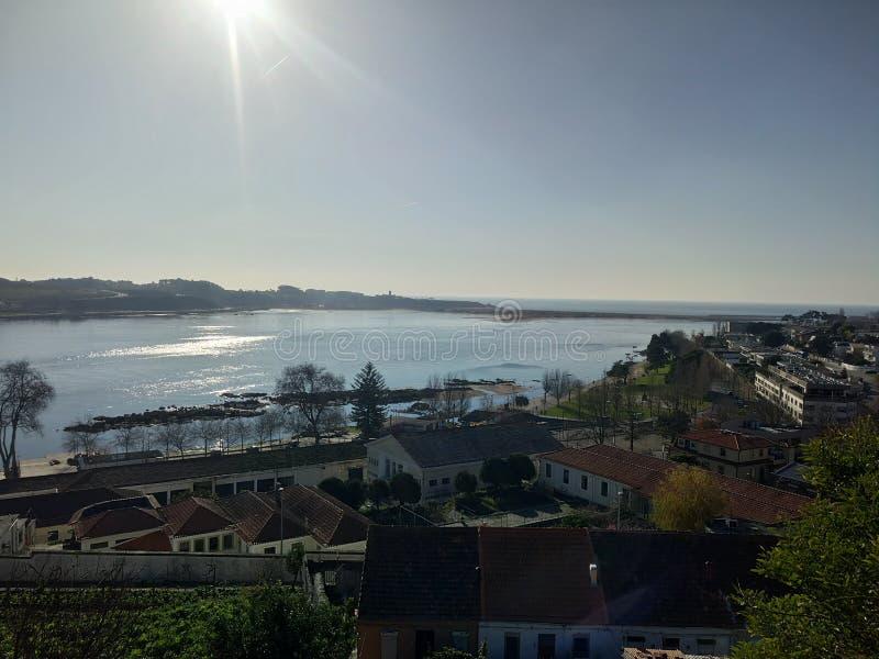 Vista cênico de Porto e de Douro fotos de stock royalty free