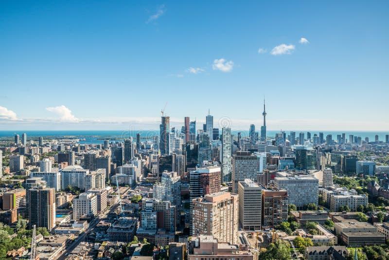 Vista cênico de Toronto do centro foto de stock