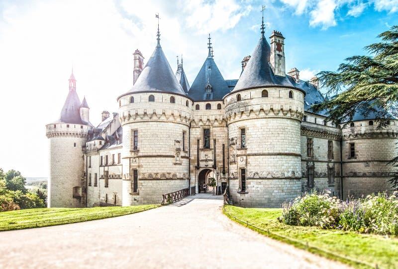 Vista cênico do castelo em França, Europa. imagens de stock