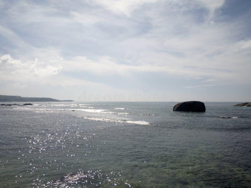 Vista cênico do oceano em Galle, Sri Lanka imagens de stock royalty free